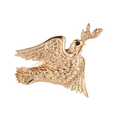 3Pcs/Lot Cute Animal Pigeon Women Fashion Brooches Gold Color Alloy Kawaii Garment Decor Brooch Pin Craft