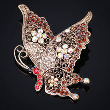 Brown Rhinestone Crystal Brooch pins For Women vintage Statement Punk Hijab Accessories Antique Silver Men Jewelry