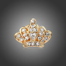 1 Pc Unisex Women Men Crown Brooch Rhinestones Crystal Breastpin Collar Pin Jewelry Gifts 2 Colors