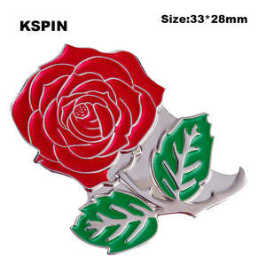 Rose Badge lapel pins pin 10pcs a lot