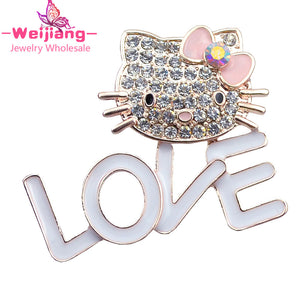 Cats brooches sweet hellol kitty fans love brooches for best friend