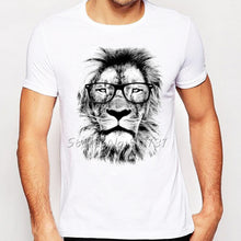Cool Lion with Glasses Summer T-Shirt for Men