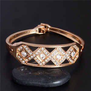Crystal Square Charm Bracelets Bangles Cuff