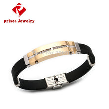 Jewelry Bracelet Charm Fashion Bangle Classic Silicone Bracelet Gold Link Chain Trendy Wristband Rubber Magnetic Jewelry
