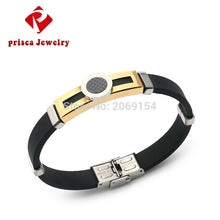 Titanium Bracelet For Men Charm Jewelry Gold Magnetic Jewelry Chain Link Bangle Stainless Steel Wristband ALLOY Jewelry New