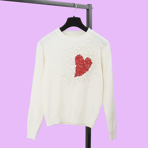 Heart Flowers Sweet sweater