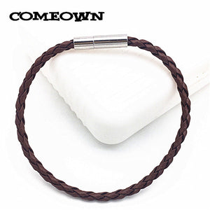 Braided Leather Charms Bracelets&Bangles Cords with Stainless Steel Bayonet Clasp