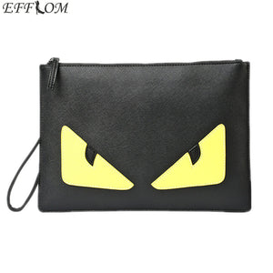 Messenger Bags Monster Eyes Day Clutches Envelope Women Clutch Bag Black