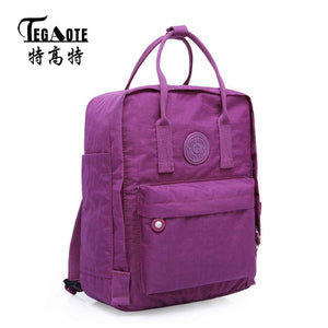 Waterproof Nylon Backpacks - Men or Women Casual Big Travel Backpack