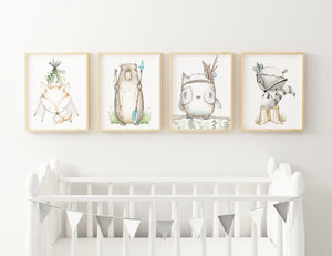 Woodland Nursery Wall Art Set
