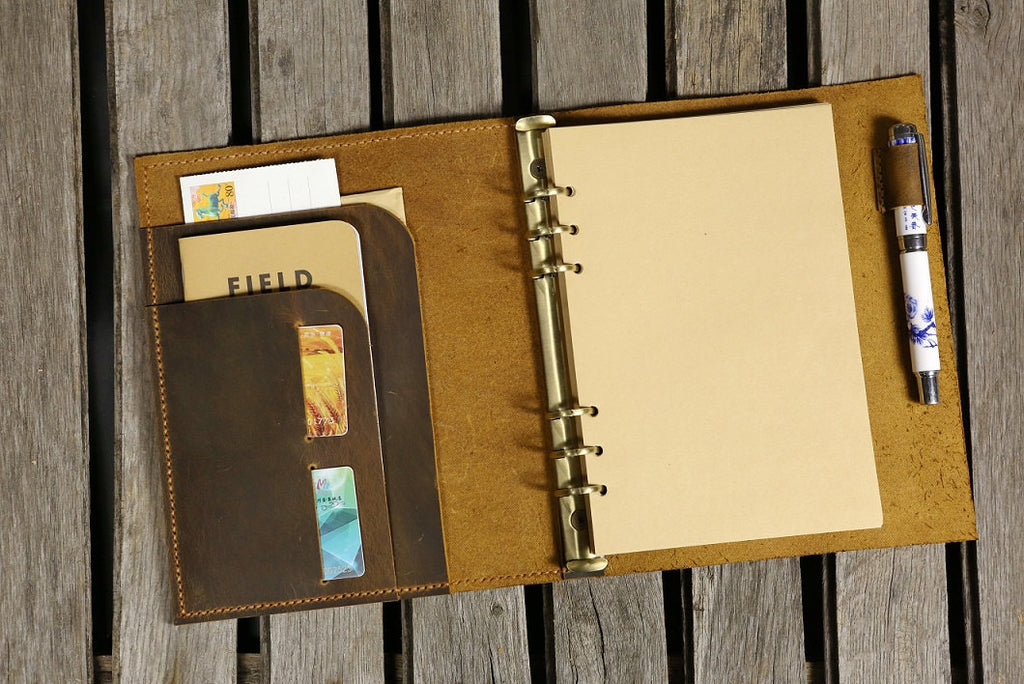 Ring Binder Leather Porfolio A5 - No. 04