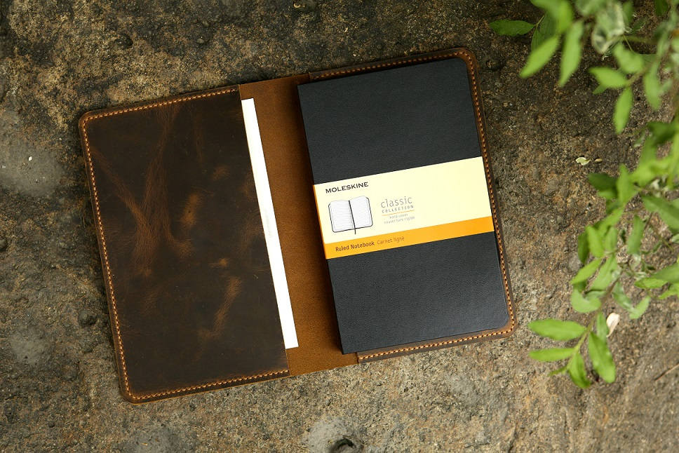 Large Moleskine Journal Leather Cover