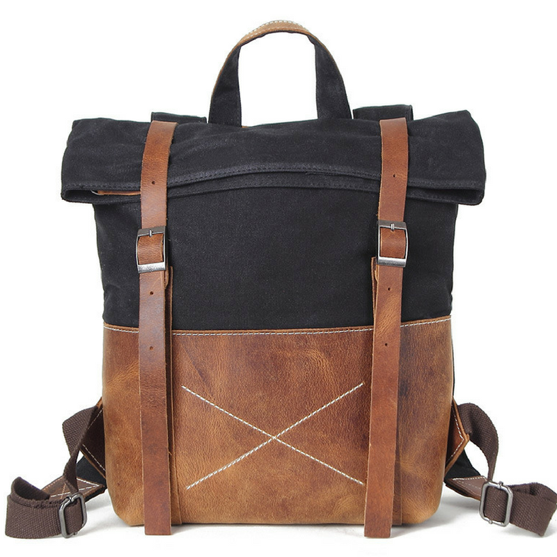 Havelock Waxed Canvas Leather Backpack
