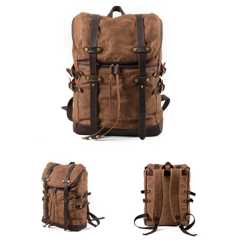 Mason Waxed Canvas Backpack