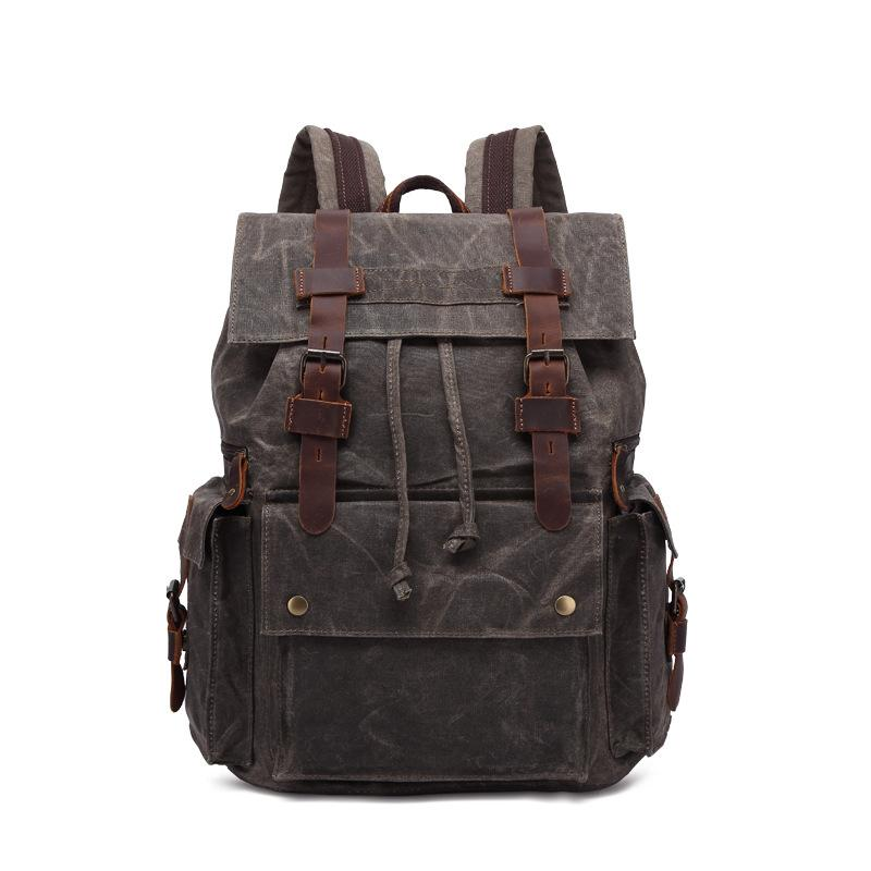 Zaire Waxed Canvas Backpack