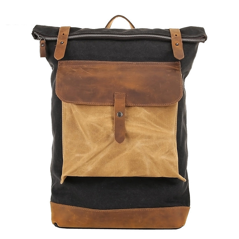 Rolleston Roll-Top Canvas Backpack - Odessie