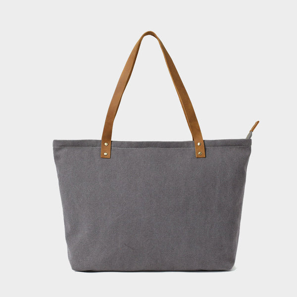 Preston Gray Canvas Tote - Odessie