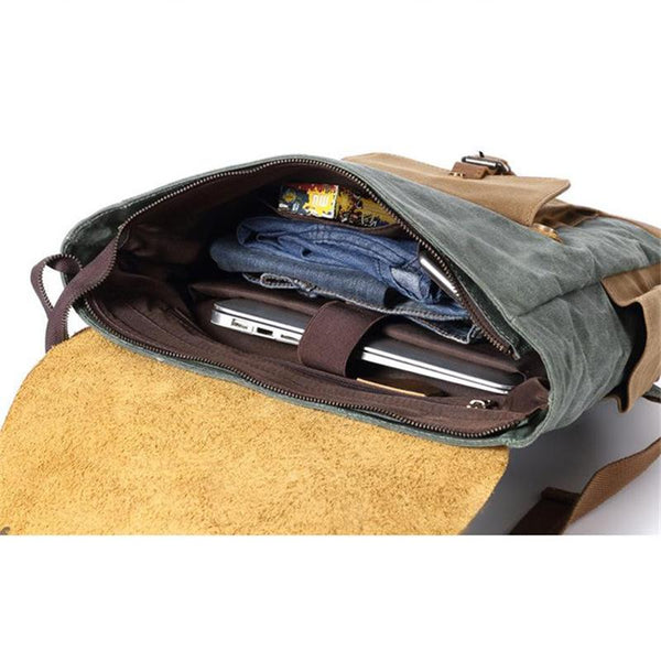 Howe Waxed Canvas Backpack