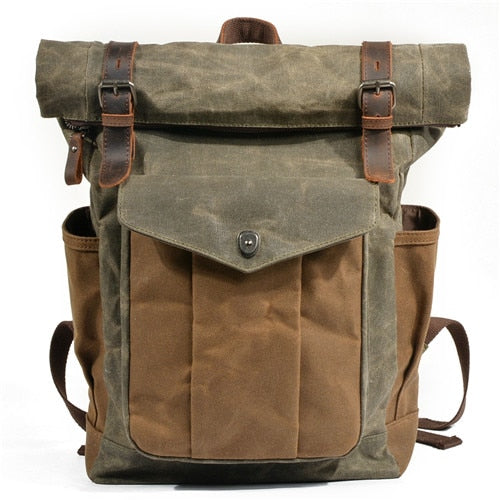 Byron Waxed Canvas Backpack