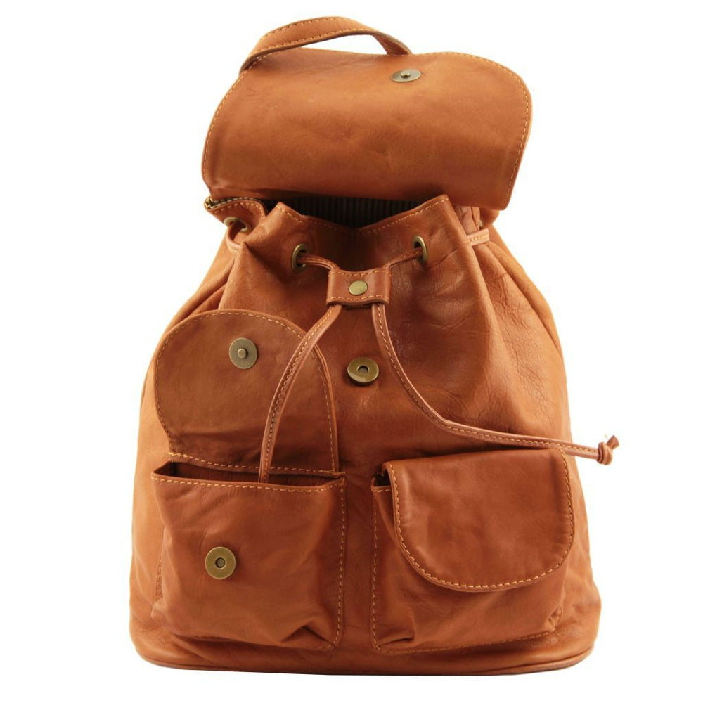 Seoul Leather Backpack - Small - Odessie