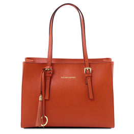Alexandra Saffiano Leather Handbag - Odessie