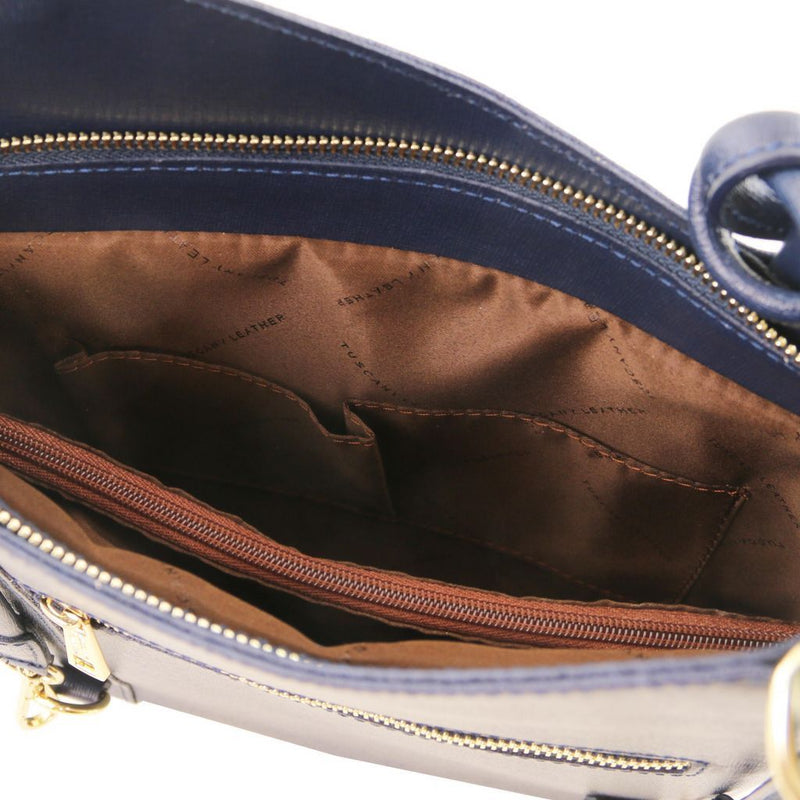 Patty Saffiano Leather Convertible Backpack