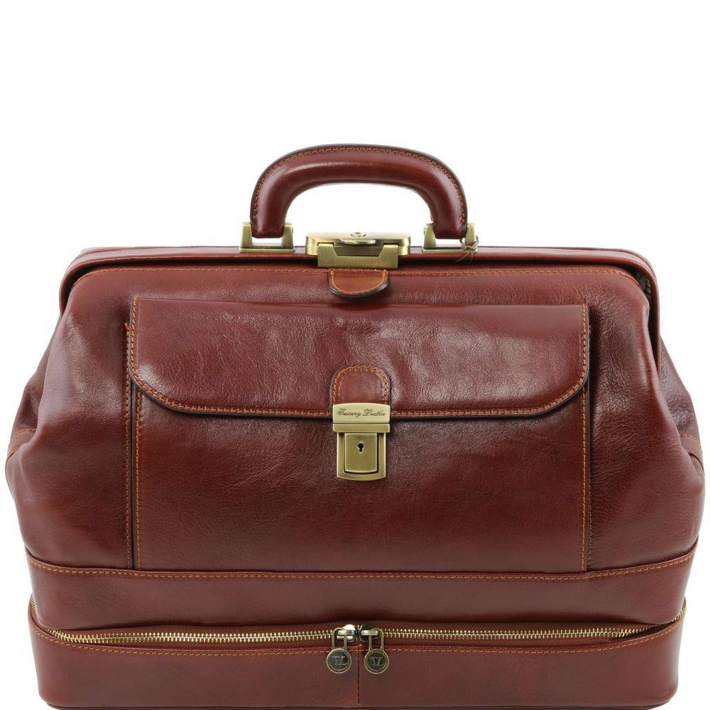 Giotto Exclusive Double Bottom Leather Doctor Bag