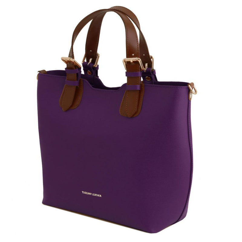 Alden Saffiano Leather Handbag - Odessie