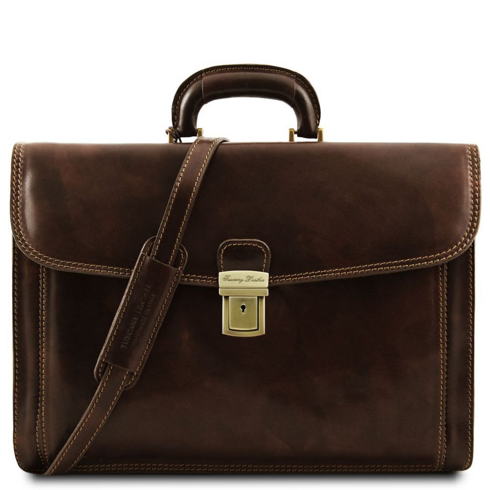 Napoli Leather Briefcase 2 Compartments