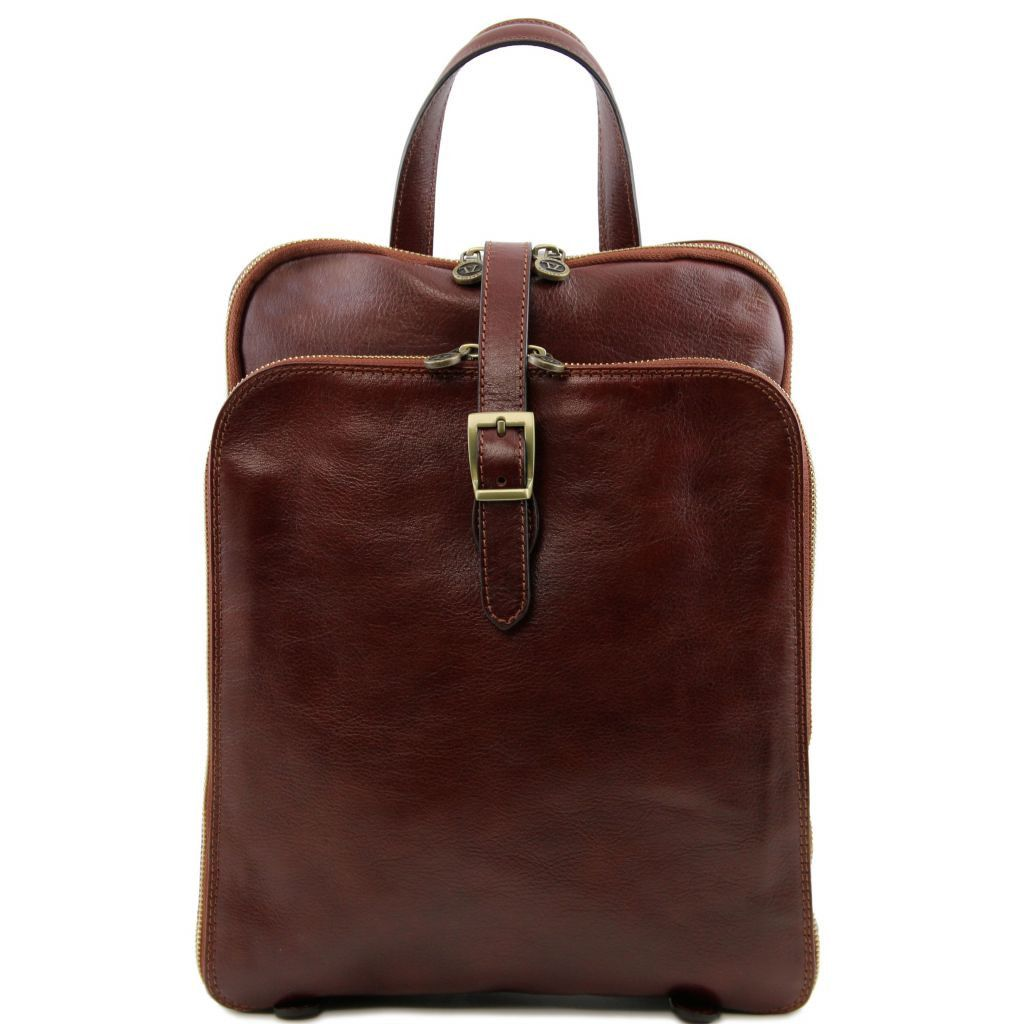 Taipei Leather Backpack - 3 Compartments
