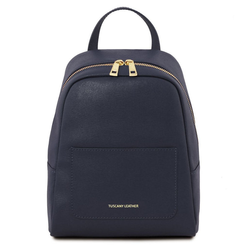 Kyle Saffiano Leather Backpack - Small - Odessie