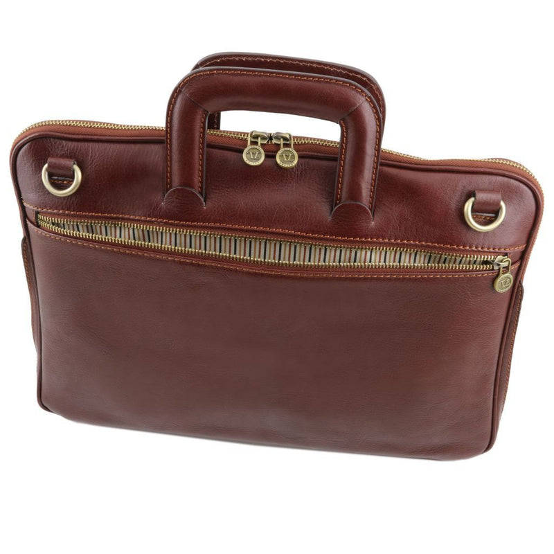 Caserta Document Leather Briefcase