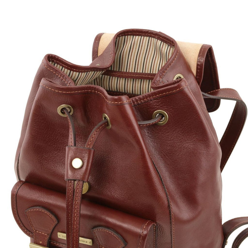 Kobe Leather Backpack - Odessie