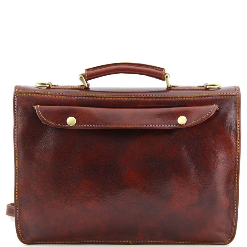 Siena Leather Messenger Bag - Odessie