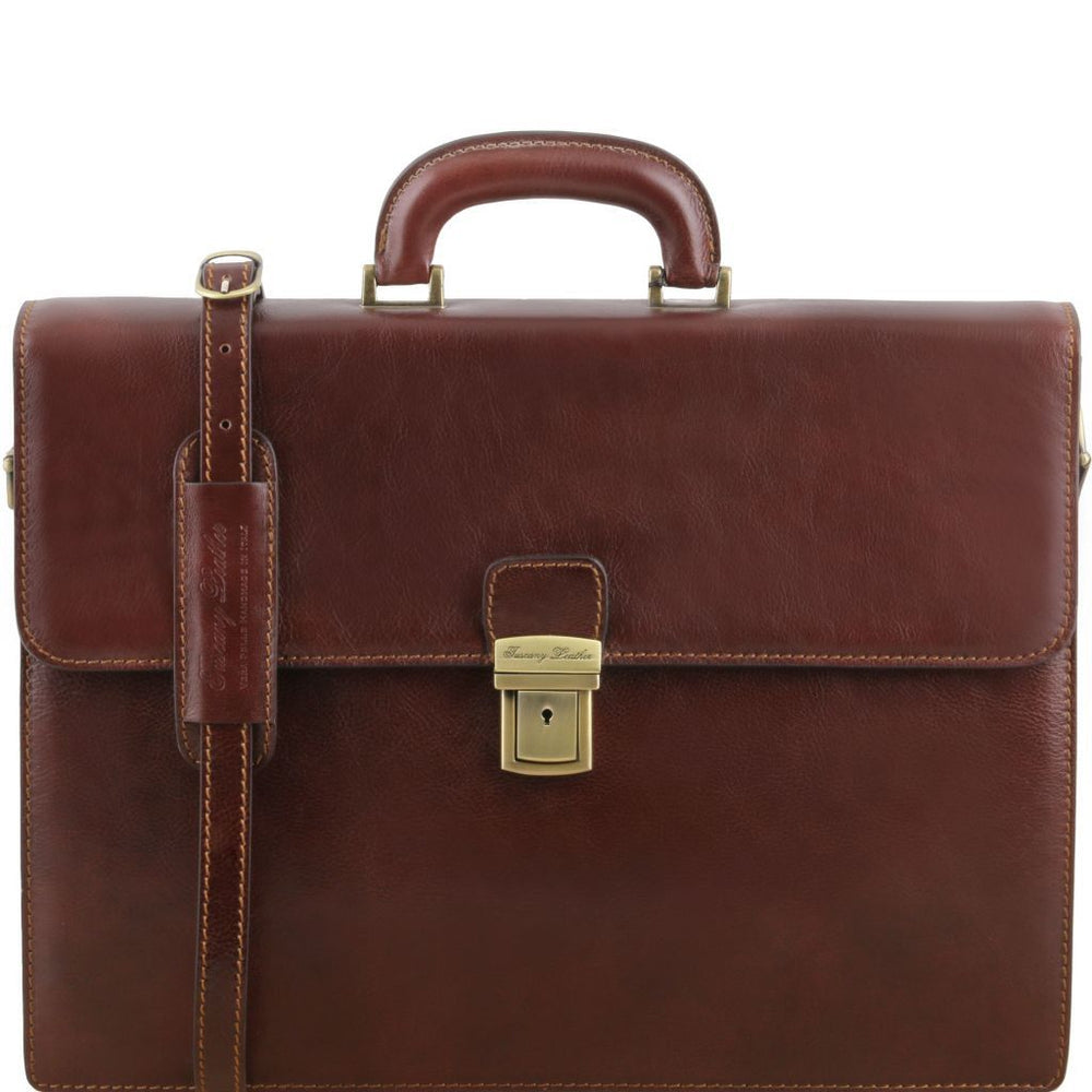 Parma Leather Briefcase - Large