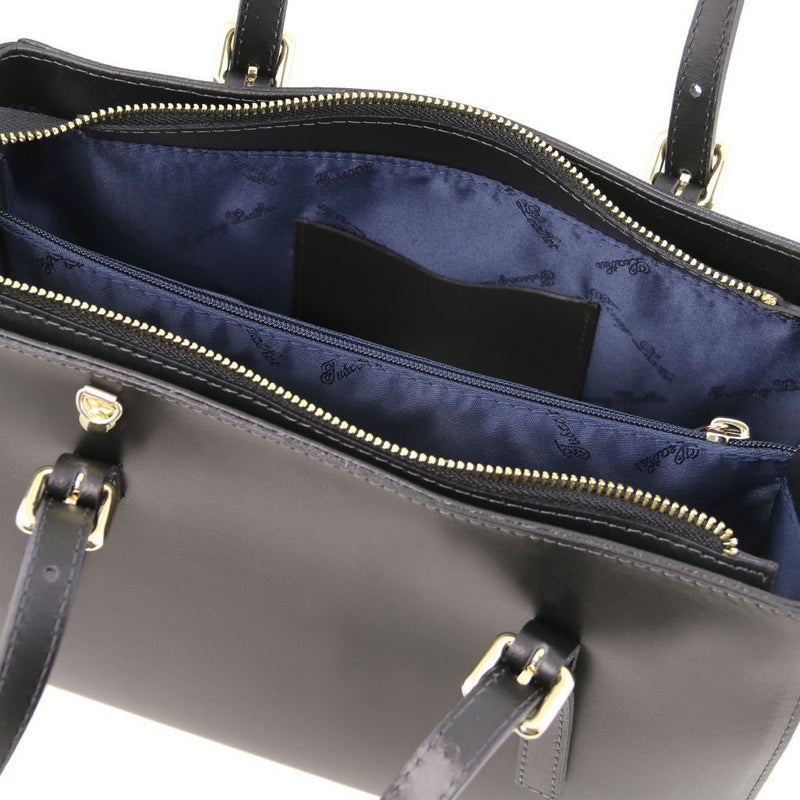 Aura Leather Handbag - Odessie