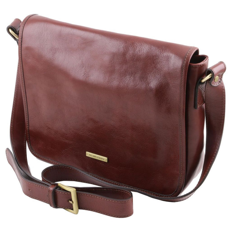 Chalmers Leather Messenger Bag - Odessie