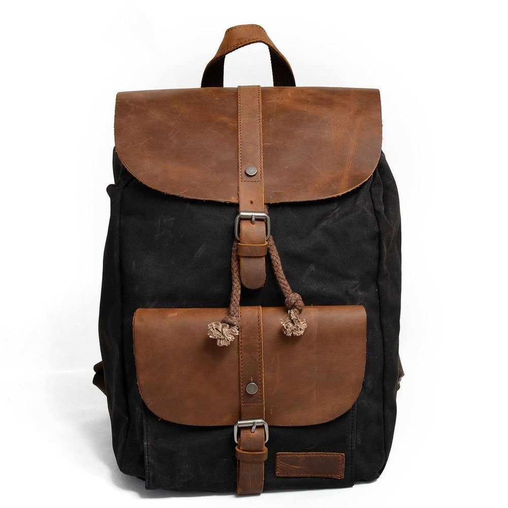 Indio Waxed Canvas Leather Backpack