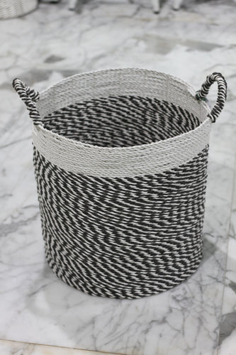 Basket grey white top