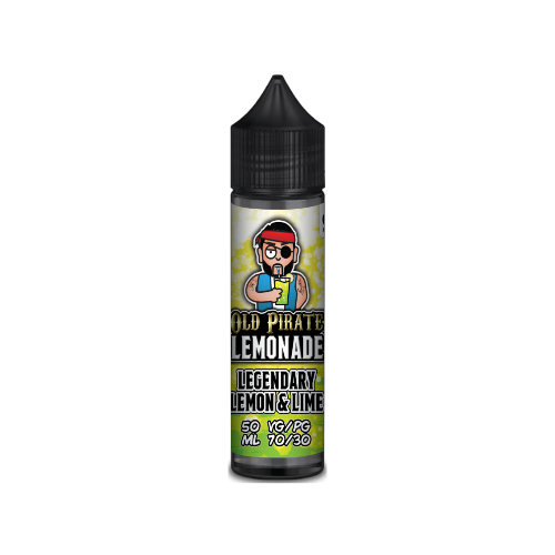 Old Pirate Lemonade Legendary Lemon and Lime - 50ml Shortfill E Liquid