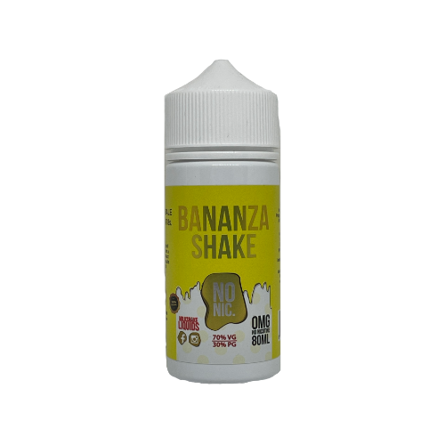 Milkshake Liquid Bananza Shake - 80ml Shortfill E-Liquid