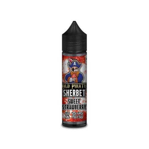 Old Pirate Sherbet Sweet Strawberry - 50ml Shortfill E Liquid