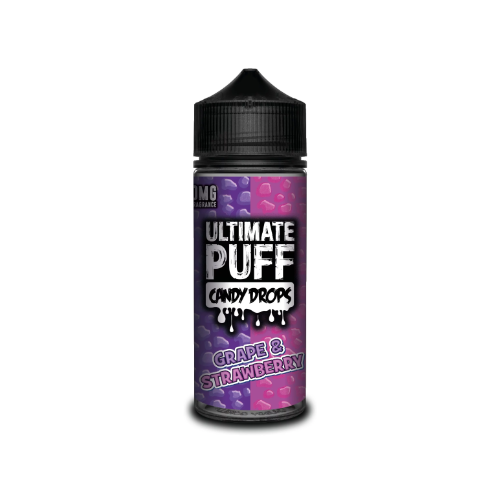 Ultimate Puff Candy Drops Grape and Strawberry - 100ml Shortfill E Liquid