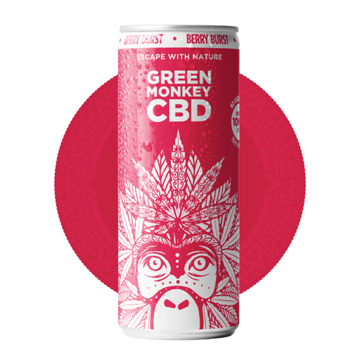 Green Monkey Berry Burst - 10mg CBD 250ml Soft Drink