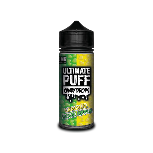 Ultimate Puff Candy Drops Lemon and Sour Apple - 100ml Shortfill E Liquid