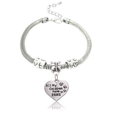 ALL MY Children have PAWS LOVE Bracelet