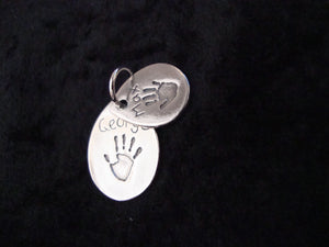 Double Tear Drop Hand And Footprint Charms