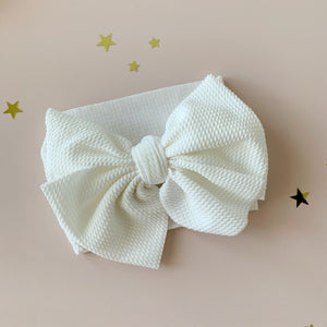 Milk Big Bow Headband