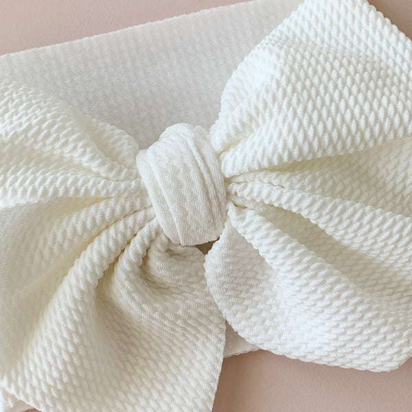 Milk | Big Bow Headband Wrap