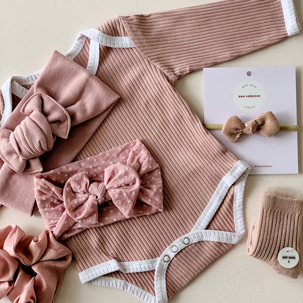 Dusty Salmon | Gigi Knot Bow